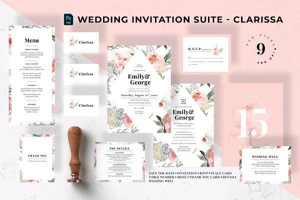 Wedding Invitation Suite - Clarissa