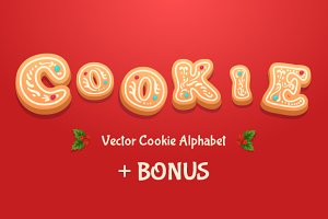 Gingerbread cookies alphabet