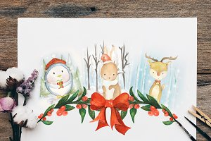 Woodland Animal Christmas Collection