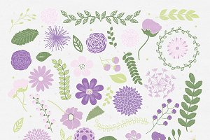 Purple-lavender flower clipart