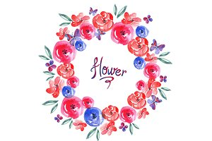 Beautiful Watercolor Flowers