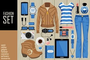 Fashion vector set