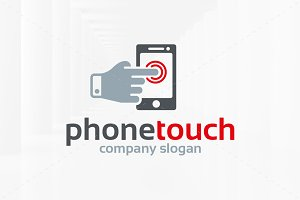 Phone Touch Logo Template