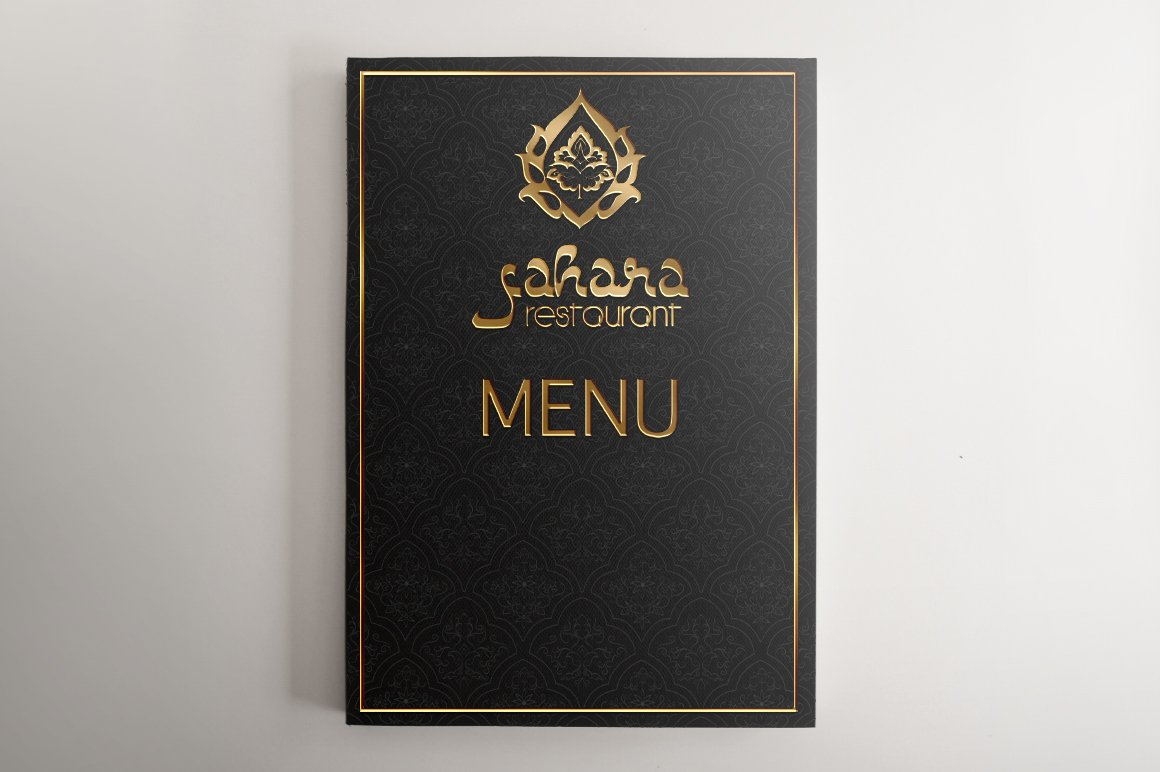 Vector arabic food restaurant menu brochure templates for Arabian cuisine menu