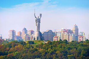 Motherland statue above Kyiv,Ukraine