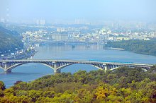 Aerial view of Kyiv & Dnipro river