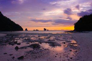 Tropical Thailand Beach Sunset