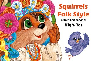 Squirrel Folk Style