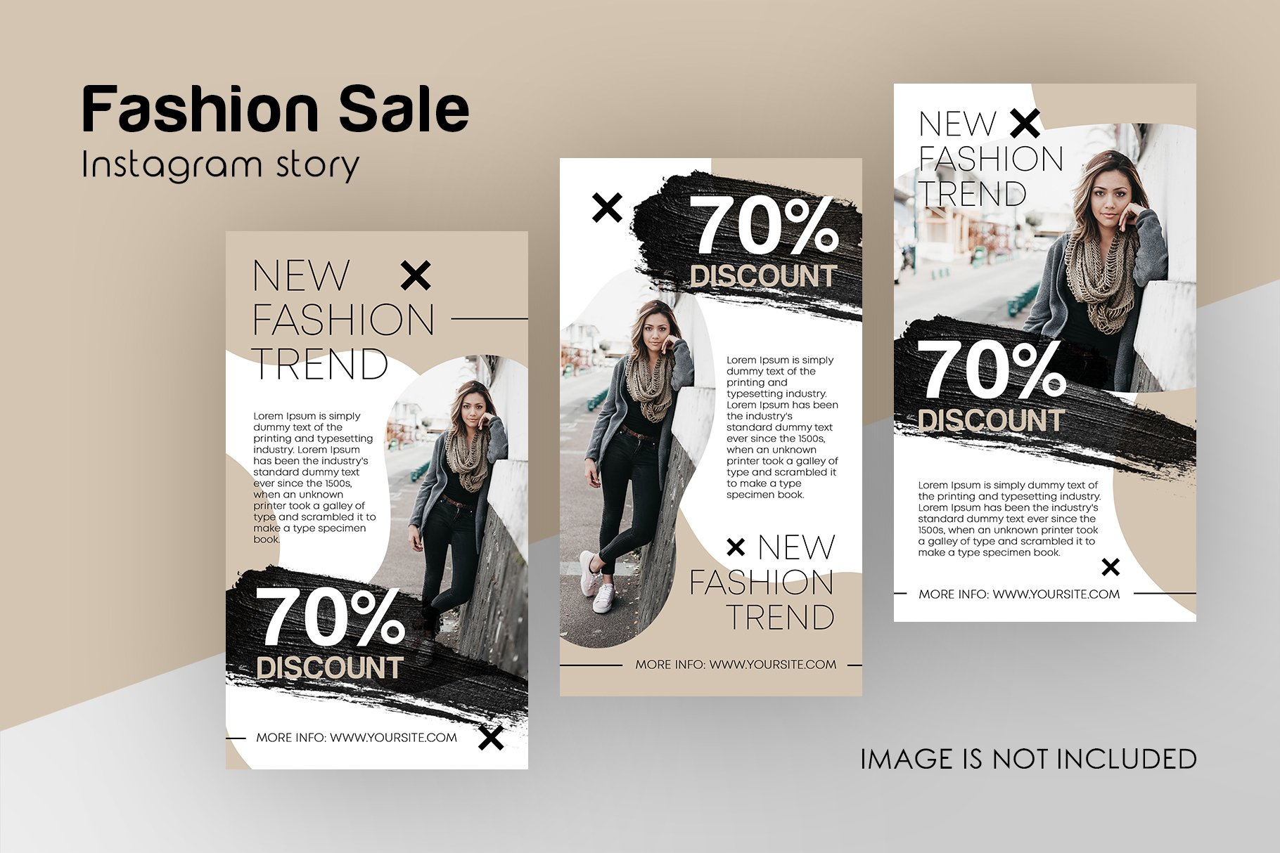 Fashion Sale Instagram Stories Set Creative Photoshop Templates Creative Market