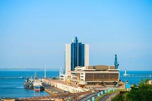 View of Odessa sea terminal