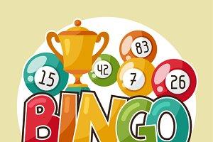 Bingo or lottery retro illustrations