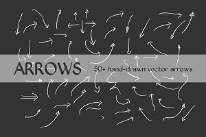 50+ Hand Drawn Vector Arrows