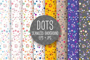 DOTS. Seamless background.