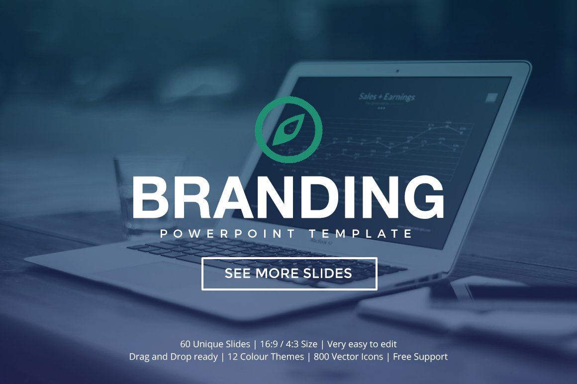 Branding Powerpoint Template Presentation Templates Creative Market - Best of company profile ppt scheme