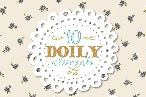 Hand Drawn Doilies Clip Art