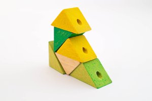 Yellow-Green Wood Toy