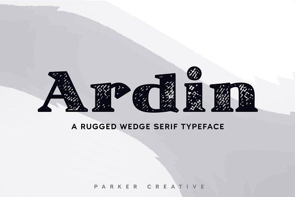 ★ Ardin ★ Distressed Wedge Serif