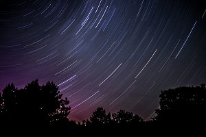 Purple Star Trails