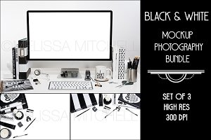 Bundle X 3 Black & White Mockup #1