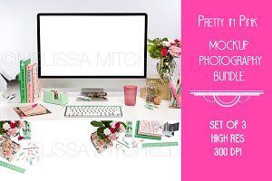 BUNDLE X 3 Pink & Mint Mockup #2