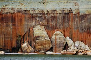 Rock Slabs at Pictured Rocks