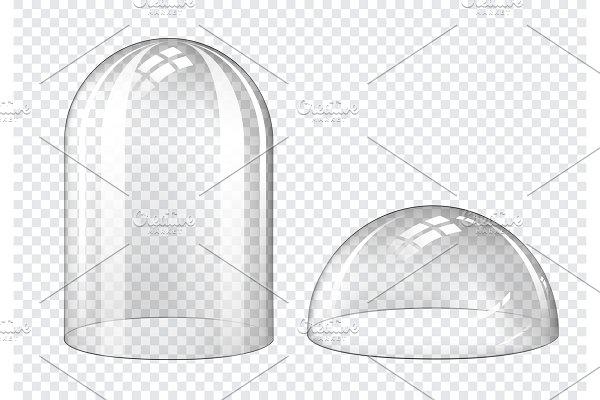 Spherical Gl Dome Bell Jar Custom