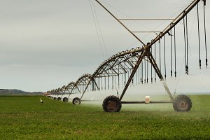 Irrigation sistem in a farm