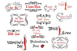 Romantic and Valentine's Day headers