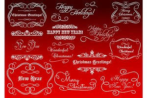 Calligraphic elements for Christmas