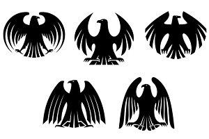 Black heraldic eagles