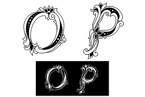 Capital letters O and P