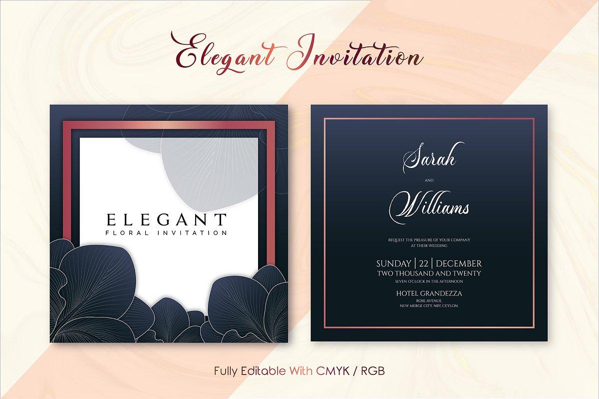 Elegant Invitation Template Ver : G ~ Invitation Templates ...