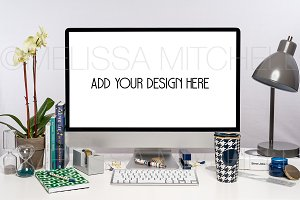 iMac Web Design Mockup #97
