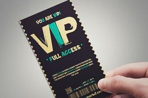 Retro style VIP PASS