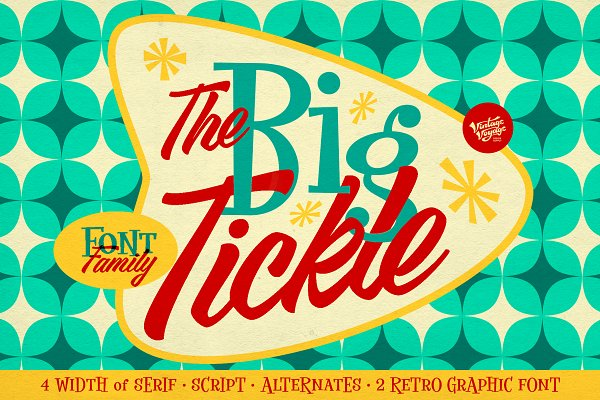 The Big Tickle • Font Family +Extras