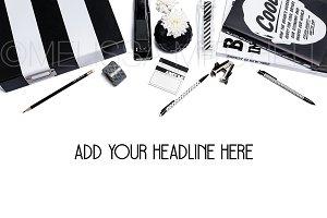 Black & White Styled Mockup #92
