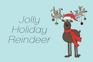 Jolly Holiday Reindeer