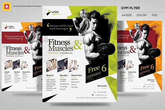 Fitness Flyer Gym Flyer V11 Flyer Templates Creative Market