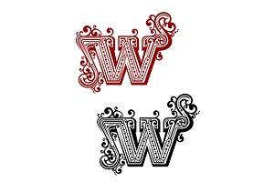 Retro W letter
