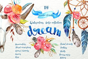 Watercolour boho dream collection