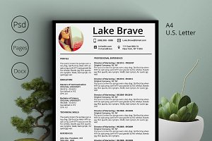Lake Brave Resume CV 5 Pack