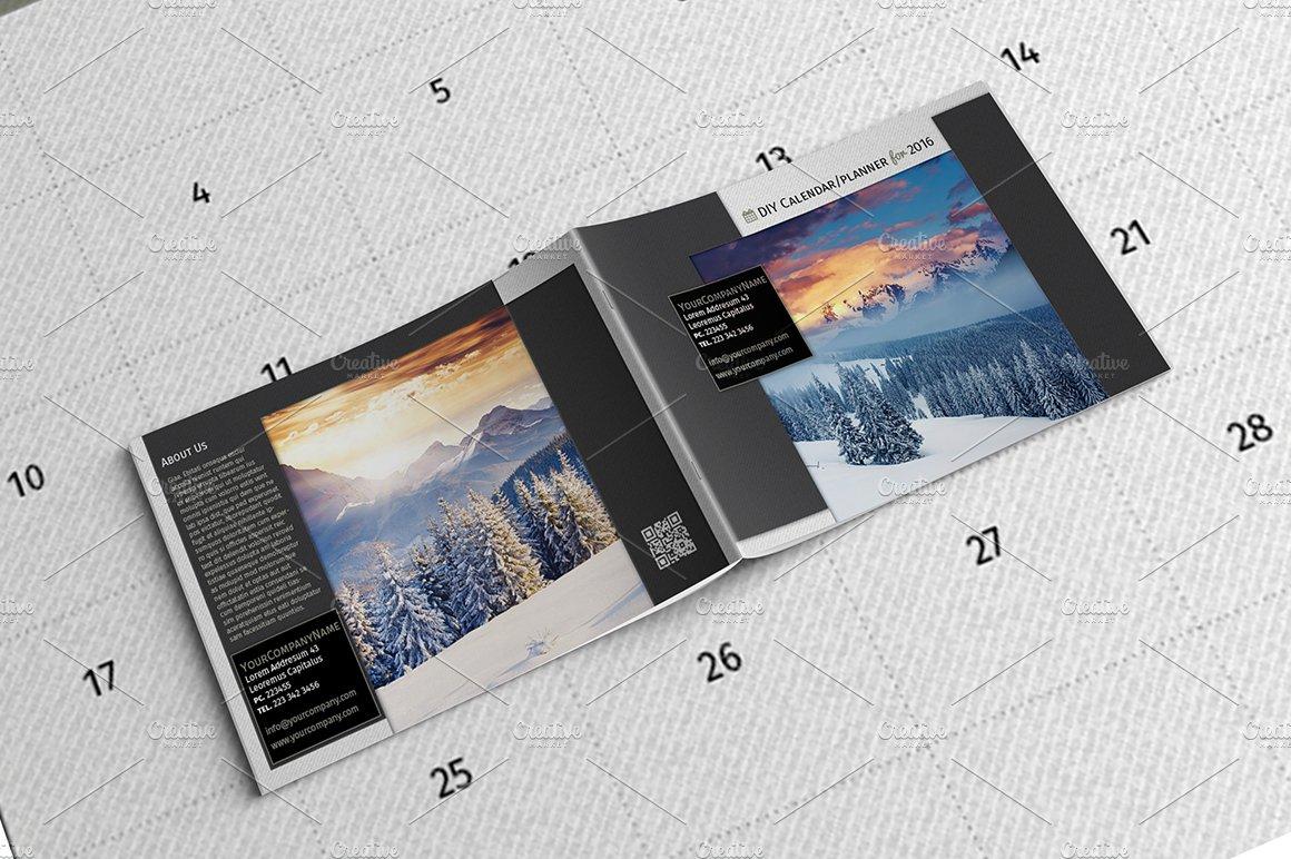 DIY Planner / Calendar Template 2016 ~ Templates ~ Creative Market