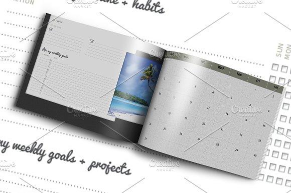 Diy Planner Calendar Template 2016 Templates Creative Market