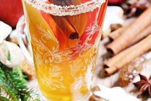 Winter spiced apple tea