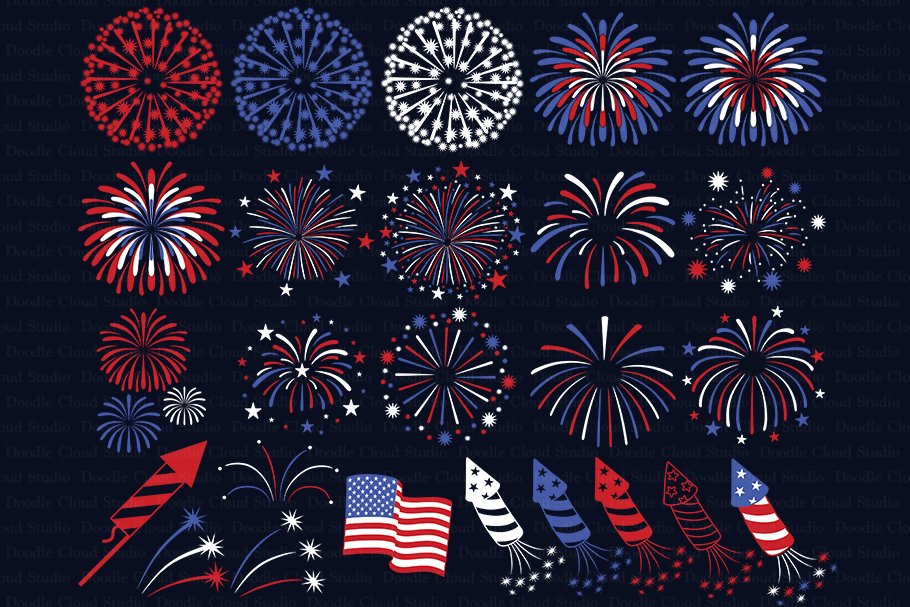 Fireworks Svg Cut Files Pre Designed Photoshop Graphics Creative Market