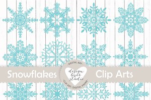 Vector Snowflakes cliparts