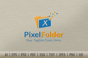 Pixel Folder Logo