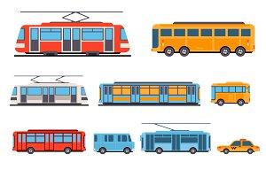 Urban transport, flat style