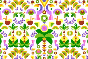 Tropical flat background