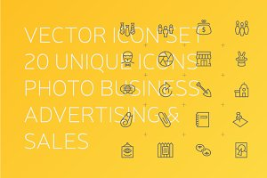 + Advertising & BUSINESS ICONS +